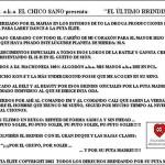 EL ÚLTIMO BRINDIS - BACK COVER
